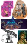 Rick and Morty Combo Doodles by KidiMaster