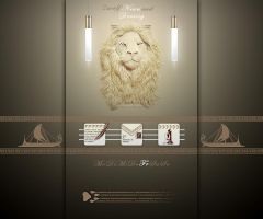 LG Optimus Speed White Lion by Agamemmnon