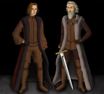Mance Rayder and Tormund Giantsbane by alcanis-ivennil