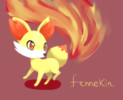 Fennekin, the fire fox by Auphelith
