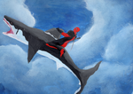 DeadPool and The Shark by PDuncanson