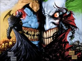 Batman, Spawn, Violator, Joker by Courvousier