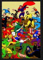 Mighty Crusaders free for all by Gwhitmore