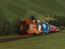 International Train III - Rogers Pass by Sadguardian