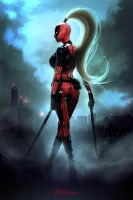 Lady Deadpool Print by Ariane-Saint-Amour