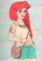 Anchors Away- Ariel by colormekatie