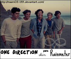 One Direction Skin Para Rainmeter ( Mas Chiquito ) by maarii03189