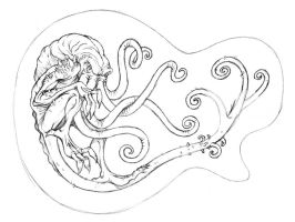 Unused Cthulhu Guitar design by ATLbladerunner