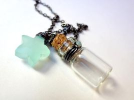 Bottle Beauty Necklace - Upon a Star by WaterGleam