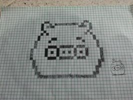 A piggie made one square at a time! by AngryBirdsStuff