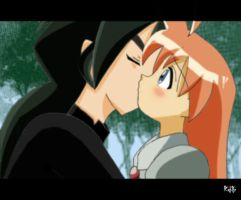 Ahiru and Fakir Kiss by Angeliclily