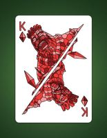 Drawing The King Of Diamonds aka King Of Earth by LineDetail