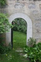 Garden Door by NHuval-stock