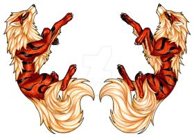 Double Sided Arcanine Badge by CaptainMorwen