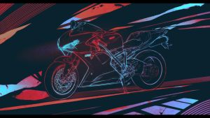 DUCATI 1200 SVA - Lineart Wallpaper by KhoaSV