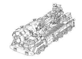 Concept WIP - Heavy Truck by MikeDoscher