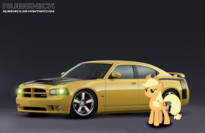 Commission: Apple Jack Dodge Charger by rubenick