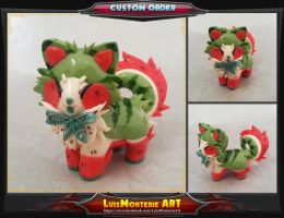 Watermelon Cake Sushi Dog by LuisMonterieArt
