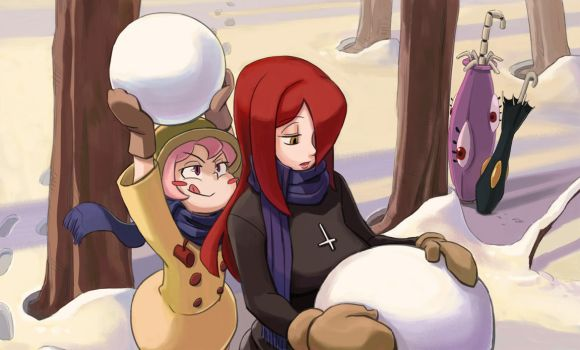 Snow Attack!! by greenlittle