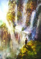 Day-21 Waterfall by MsViVid