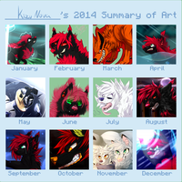 My summary of art 2014 by KizuNova