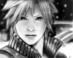 FF7: Cloud Strife sketch by Takamin