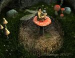 The Summer Forest Fairy Detail by VileYonderboy