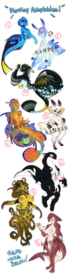 MERMAY ADOPTABLE AUCTIONS!!! - 5 still avaliable by VenusFlowerrr