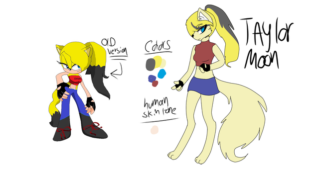 Old OC re design  by KawiiDinoGirl