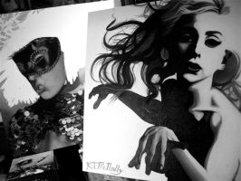 Lady Gaga Oil Paintings by kpotatodorkk