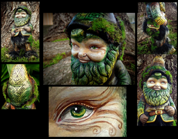 Hand Painted Gnome by Wood-Splitter-Lee