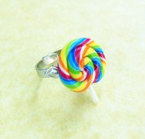 polymer clay lollipop ring by ScrumptiousDoodle