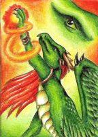 ACEO Enorca - The spell by ElorenLeianor