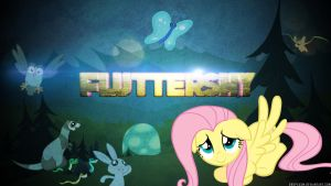 Fluttershy Wallpaper by Dropgasm