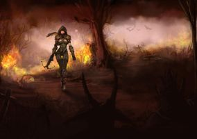 Diablo 3 Demon Hunter wallpaper scribble by Nervaa
