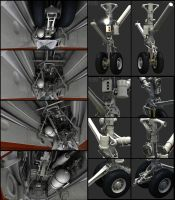F-14D wip 4 Nose Gear by Siregar3D