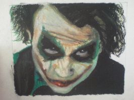 Heath Ledger as The Joker by dizzywater