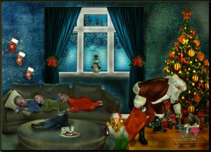 Waiting for Santa by LindArtz
