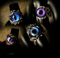 Rings of a Dragon - Blues and Purples 2172014 by LadyPirotessa
