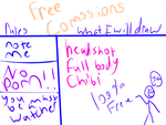 Free Comssions by penguinsrthebest
