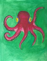 Six armed octopus by Coelophysis83