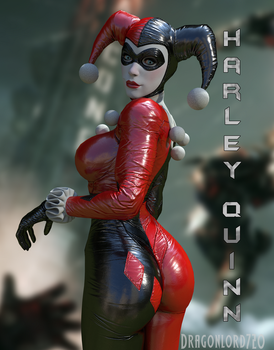 Harley Quinn Render by DragonLord720
