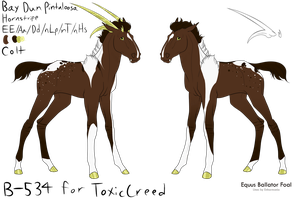 B-534 EB Foal for ToxicCreed *DESIGN HOLDER* by 11IceDragon11