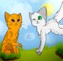 Crookedpaw and Dewpaw by BLlNK