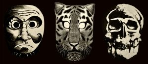 Scratchboard Masks by new-moon-night