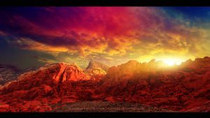 Red mountains by RazielMB