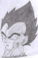Vegeta Sketch by gothgirl9678