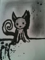 kitten (inked) by HamletTheDetective