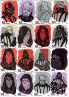 STAR WARS Sketchcards - Vader and Palpatine by DenisM79
