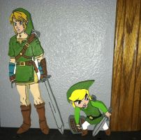 Legend of Zelda Wooden Figures by daghostz